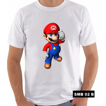 Camisetas Super Mario Bros Peach Yoshi Toad Bowser