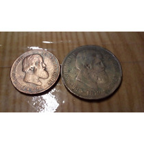 Brasil Moeda 40 Réis 1879 E Moeda Bronze 20 Reis 1869