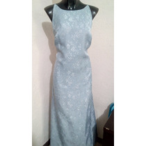 Vestido Azul Grisaseo Talla 7 Karen Kein
