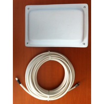 Antena Wifi Tipo Panel 17 Dbi Direccional + 10m Cable