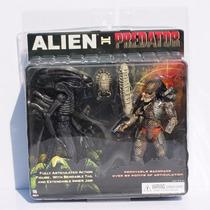 Combo Bonecos Alien E Predador 22cm Oficial Neca Envio Já
