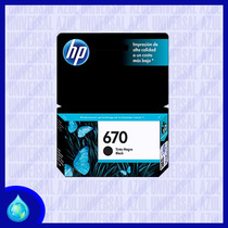 Cartucho 100% Original Hp 670 Negro Black (cz113al)