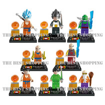 Set 8 Figuras Dragon Ball Z Vegeta Goku Compatible Con Lego