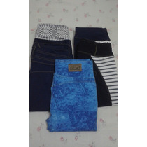 Pantalon Leggins Tipo Jeans Unicolor Tela Gruesa Peruana