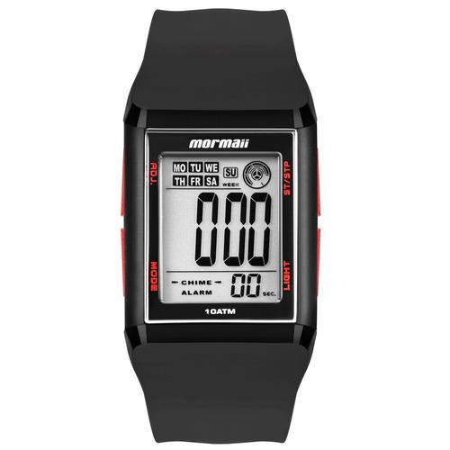 5dc1ba3acdc Relógio Mormaii Digital Square Wave Mo18008r Preto - R  179