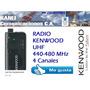 Radio Kenwood 4 Canales Uhf- Pkt-03 - Nuevo
