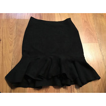 Preciosa Falda Wow Couture Color Negro Olanes 100% Original!