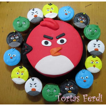 Angry Birds Torta Decorada