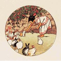 Lienzo Tela Alimentando A Los Conejos Dibujo México Antiguo
