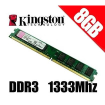 Memoria 8gb Ddr3 1333mhz Kingston Slim Blister P/ Desktop Pc