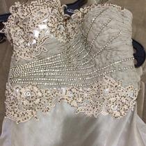 Vestido De Festa Longo, Cor Champanhe,marca Tons,tamanho M.
