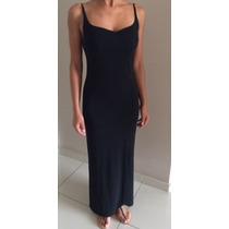 Vestido Longo Preto - Corte Impecável! Um Luxo- Tam P