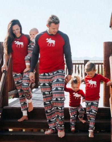 Familia Juego Ninos Mama Papa Navidad Pijamas Kids 7t