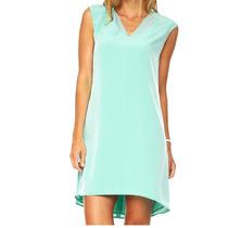 Vestido Calvin Klein Talla 2 Color Agua V Nuevo Oferta!!!