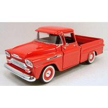 1958 Chevy Apache Escala 1/24 Metalica Motormax Coleccion