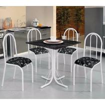 Conjunto Mesa Jantar Cozinha 4 Cadeiras Londres