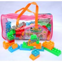 Bolso Legos Grandes 64 Piezas Bloques Juguete Didactico Niña
