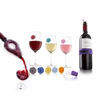Set De Degustación De Vino Vacu Vin Vacuvin + Envió Gratis