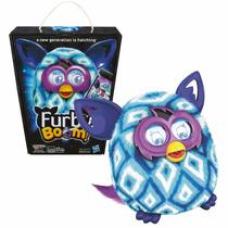 Boneco Furby Boom Figure Azul Celeste Branco Português