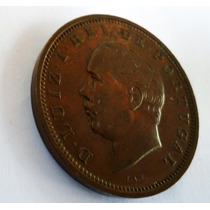 299-moeda Belíssima Antiga De Cobre De Portugal.