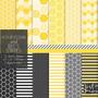 Kit Imprimible Pack Fondos Abejitas Colmena Panal Clipart