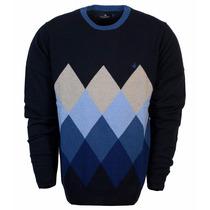 Sweater Pullover Buzo Brooksfield Hombre Lana Algodon Rombos