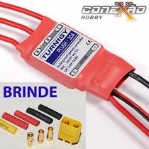 Esc 30a Turnigy Pluh Speed Control Completo C/ Bec + Brinde