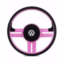 Volante Rallye Rosa Gol/ Parati/ Saveiro Quadrado + Cubo