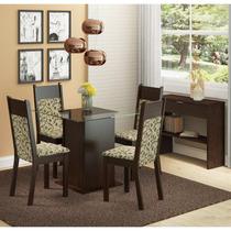 Conjunto Sala De Jantar Mesa E 4 Cadeiras Miami Madesa