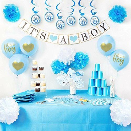 Paquete De Decoracion Para Babyshower De Nino Incluye 114550 - Decoracion-baby-shower