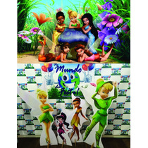 Kit Displays Tinkerbell 8 Peças + Painel 2,00x1,40mt