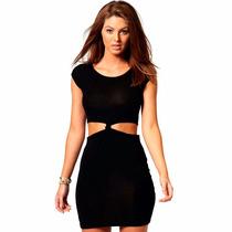 Vestidos Cortos Nudo Faldas En Lycra Negro De Mujer Verano