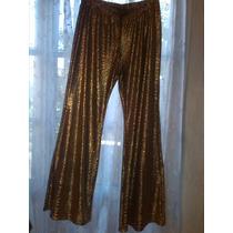 Pantalon Dorado De Fiesta