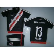 Conjunto River Plate Niño Homenaje A Labruna Camiseta+short