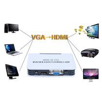 Adaptador Convertidor De Video Vga+audio A Hdmi Fullhd 1080p