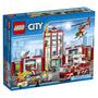 Lego City Estación De Bomberos Juguete Armar Bloques Niños