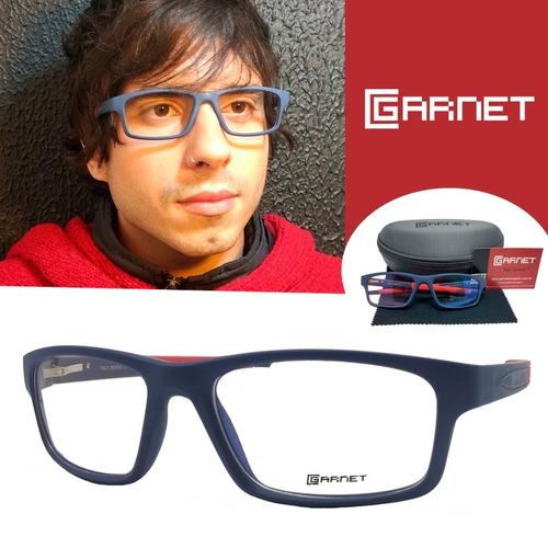 633367da5 Armação Garnet Oculos Sport Fibra Azul Lente P/grau - R$ 120,00 em Mercado  Livre