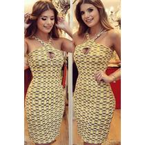 Vestido Tricot Amarelo