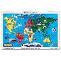 Melissa & Doug Mundial Mapa Jigsaw Puzzle