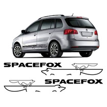 Kit Adesivo Faixa Lateral Mod5 Spacefox Com Logo Raposa