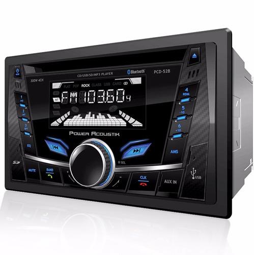 Autoestereo Power Acoustik Pcd-52b Bluetooth Usb = Alpine - $ 1,899.00 en Mercado Libre