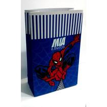 Bolsitas De Papel Spiderman Hombre Araña X10 Personalizadas