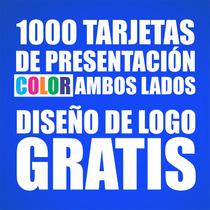 Mil Tarjetas De Presentación / Diseño De Logo Gratis /