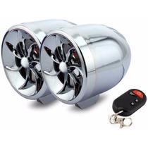 Bocinas Amplificadas Para Moto Estereo Mp3 Usb Sd Alarma Mdn