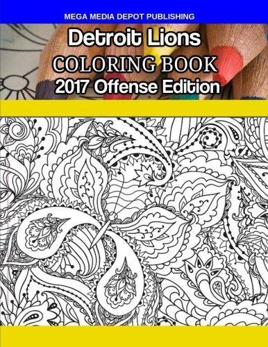 Libro De Colorear De Los Leones De Detroit: Edición 2017 De ...