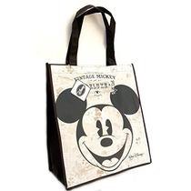 Disney Mickey Mouse Vintage Bolsa De Asas De Grandes Tejida