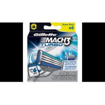 Carga Gillette Mach3 Turbo Com 6 Cartuchos