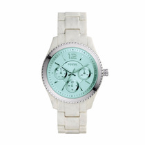 Reloj Fossil Es4019 Resina Blanco 100% Original Envío Gratis