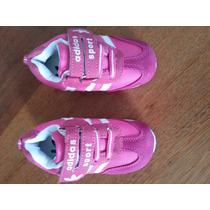 Tênis Criança Menina Adidas Rosa 14 Cm De Sola