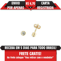 Brinco Solitário Tubo Cris 2mm Segundo Furo Rommanel 523172